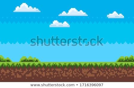 Bilgisayar grafik piksel oyun akşam harita Stok fotoğraf © robuart