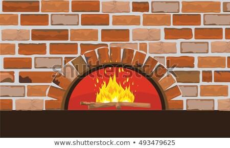 Tradycyjny palenie drewno opałowe kolor wektora lasu Zdjęcia stock © pikepicture