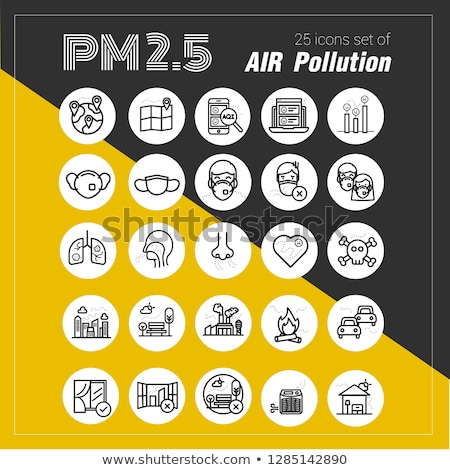 air pollution,pm 2.5 icon set Stock photo © bspsupanut