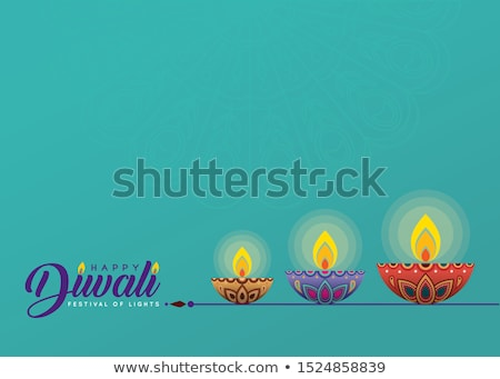 beautiful red happy diwali festival ethnic banner design Stock photo © SArts