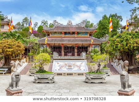 Budista templo Vietnã asiático arquitetura sol Foto stock © galitskaya