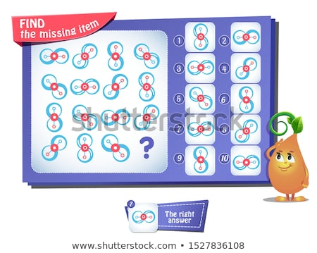 Stock photo: game missing item square adult