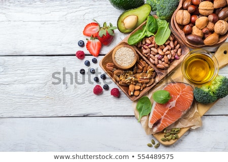 Ingredients for the healthy foods selection, concept of healthy food set up. Stock photo © Illia