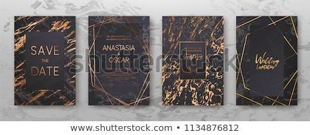 Luxe zwarte goud vector ontwerp Stockfoto © blue-pen
