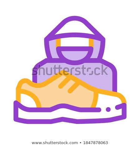 Schoenen winkeldief menselijke icon vector schets Stockfoto © pikepicture