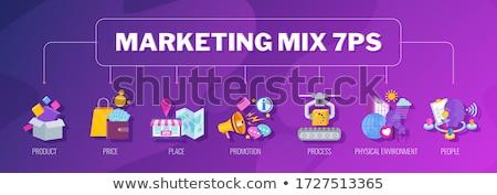 Promóciós keverék program marketing stratégia kiskereskedelem promóció Stock fotó © RAStudio