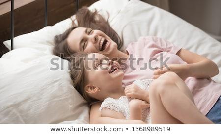 Reggel idő ébredés boldog mosolyog anya Stock fotó © vkstudio
