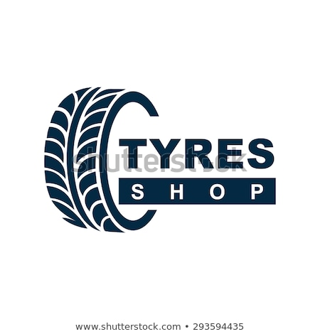 car tyre shop - logo design Stock photo © djdarkflower