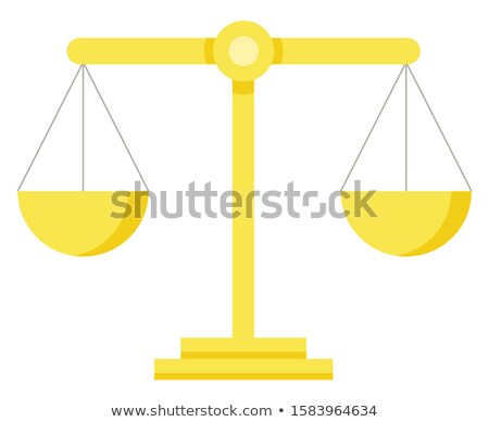 Themis Scales Isolated Measuring Device, Law Sign Stock photo © robuart