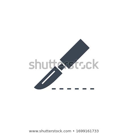 Skalpel wektora ikona odizolowany biały medycznych Zdjęcia stock © smoki