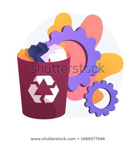 Paper waste bin vector concept metaphor. Stock photo © RAStudio