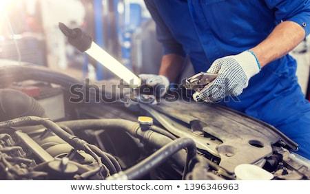механиком человека автомобилей семинар службе Сток-фото © dolgachov