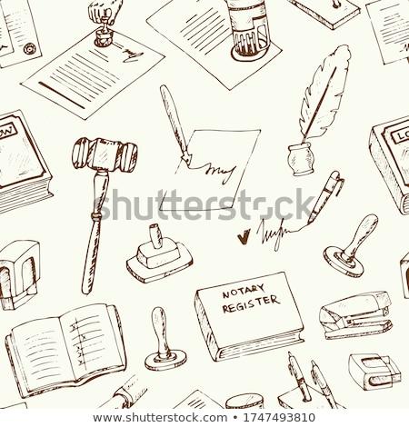 Notaris dienst agentschap vector dun Stockfoto © pikepicture