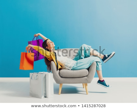 Shopaholic Stock photo © lenm