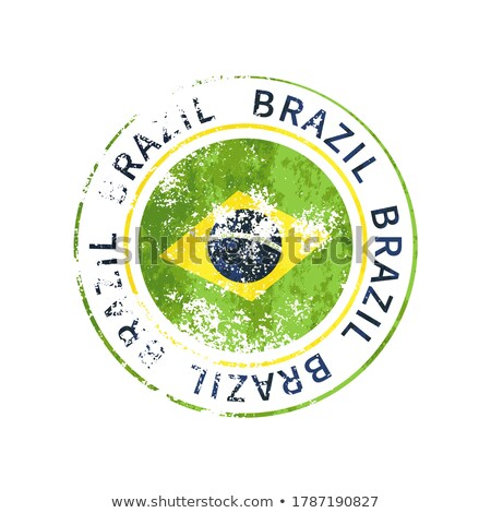 Brazília felirat klasszikus grunge lenyomat zászló Stock fotó © evgeny89