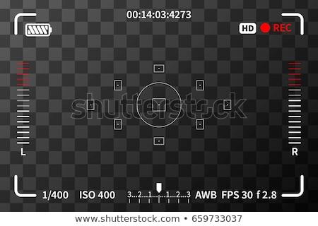 Câmera iso bateria transparente Áudio filme Foto stock © evgeny89