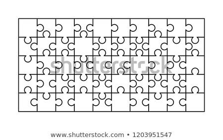 50 bianco pezzi rettangolo Foto d'archivio © evgeny89