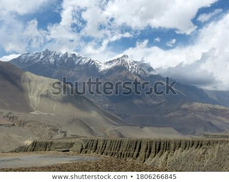Uçurum yan mağara dağ vadi kadın Stok fotoğraf © lovleah