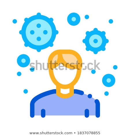 male virus carrier icon vector outline illustration Stock photo © pikepicture