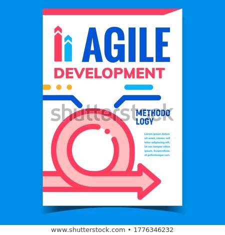 проворный развития Creative рекламный плакат вектора Сток-фото © pikepicture