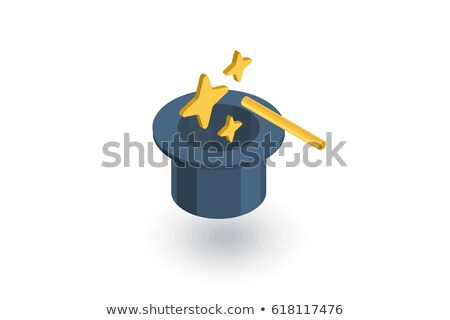 Magician Hat isometric icon vector illustration Stock photo © pikepicture