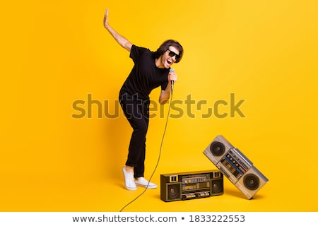 Two young men with boombox Stock photo © Paha_L