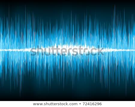 Sound waves oscillating on black background. EPS 8 Stock photo © beholdereye