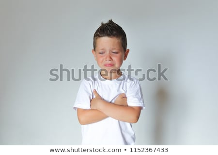 VerySad Face Boy Stock photo © lovleah