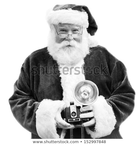 Authentiek oude foto camera oude zwarte foto Stockfoto © deyangeorgiev