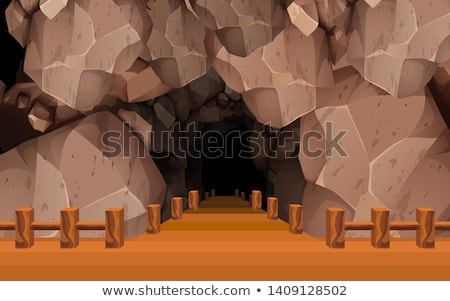 kilátás · sötét · tenger · barlang · Ciprus · víz - stock fotó © morrbyte