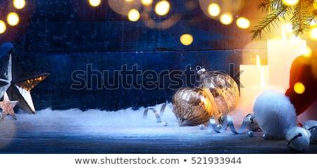 ангела синий праздник скрипки счастливым снега Сток-фото © cookelma
