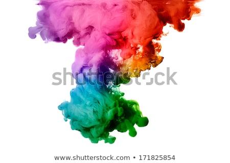 Kleur kleurstof wolk groene zwarte licht Stockfoto © GunnaAssmy