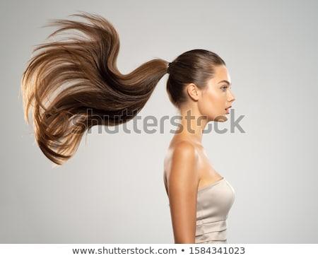 Bella giovani bruna modello mezza lunghezza ritratto Foto d'archivio © lithian