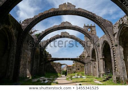 tökök · temető · templom · romok · felhők · boldog - stock fotó © crackerclips