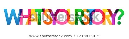 что · история · красочный · слов · доске · бизнеса - Сток-фото © ansonstock