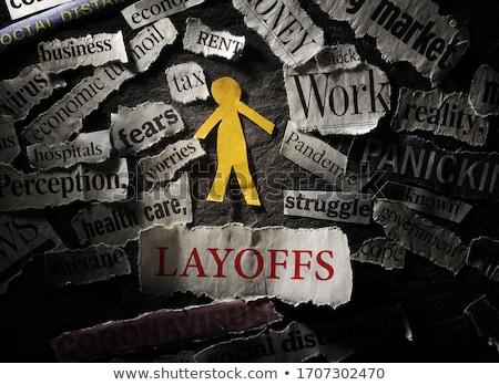 失業 · ニュース · セクション · ヘルプ · 労働 - ストックフォト © cmcderm1