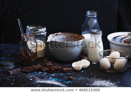 Keverék csokoládés sütemény torta minitorták fahéj csokoládé Stock fotó © elly_l
