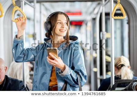 Girl riding tram Stock photo © photography33