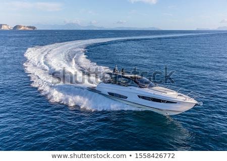 Jacht motorówka niebieski morza wody ocean Zdjęcia stock © Gbuglok