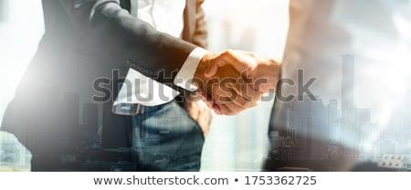ejecutivo · empresario · apretón · de · manos · aislado · blanco · hombre - foto stock © Kurhan