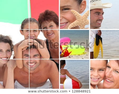 Mosaic of family holiday at the seaside Stock photo © photography33