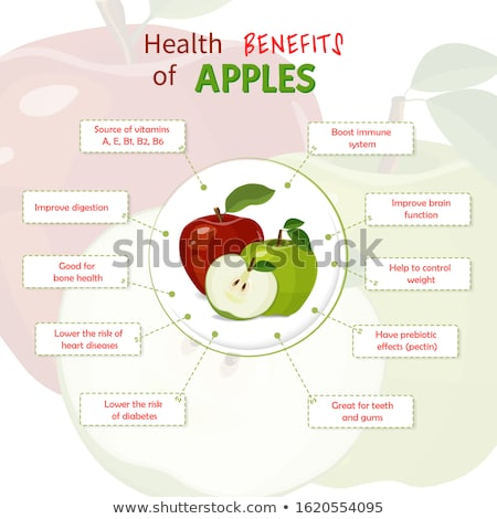 Isolated objects: apple with nutritional information stock photo © Dizski