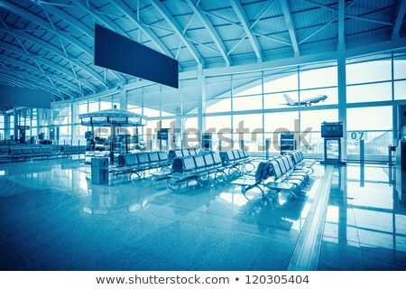 Waiting room airport. blue. planes Stock photo © Paha_L