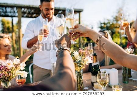 empresário · potável · champanhe · sucesso · jovem - foto stock © photography33