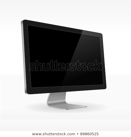 Black LCD screen sideview Stock photo © nikdoorg
