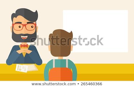 aanvrager · interview · kantoor · zakenman · baan · succes - stockfoto © photography33