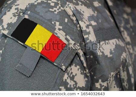 leger · België · frame · oorlog · dienst · silhouet - stockfoto © perysty