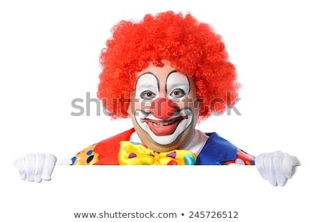 Reclame clown billboard tonen witte leuk Stockfoto © Saphira