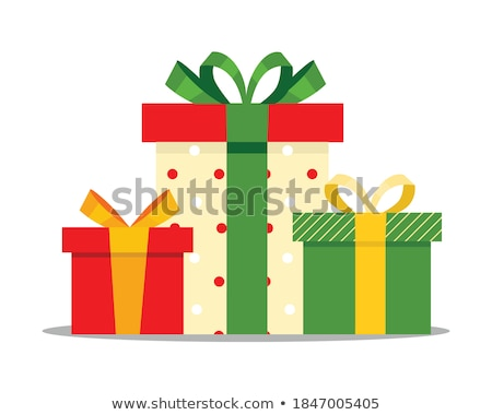 Karácsony ajándék doboz fényes ünnep elemek textúra Stock fotó © articular