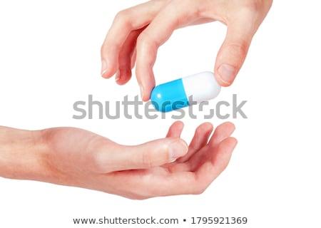 Kéz nagy tabletta orvos egészség háttér Stock fotó © ozaiachin